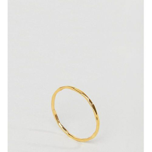ASOS CURVE Gold Plated Sterling Silver Faceted Ring - Gold