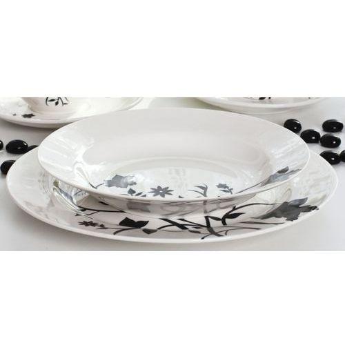 Serwis obiadowy PORTO I na 6 osób (30 el.) -- biały czarny - rabat 10 zł na pierwsze zakupy! - sprawdź w Garneczki.pl - Wyposażenie Kuchni!