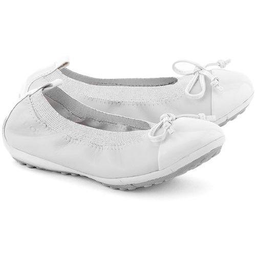 GEOX Junior Piuma Ball - Białe Skórzane Baleriny Dziecięce - J11B0F 00043 C1000 - sprawdź w MIVO Shoes Shop On-line