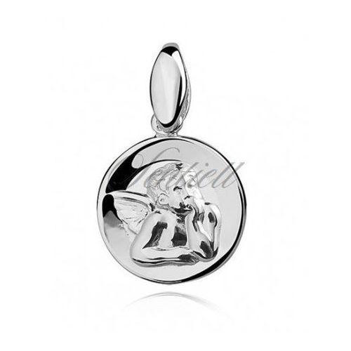 Srebrny medalik - aniołek - ks0106 marki Sentiell