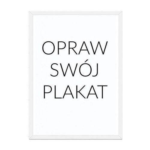 Rama na plakat biała drewniana 21 x 30 cm bez passepartout