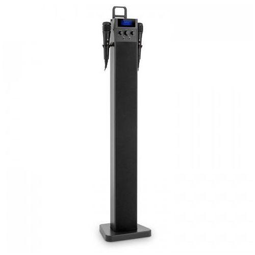 HiTower Kolumna wieżowa Karaoke Bluetooth FM AUX Slot USB do ładowania 2 x mikrofon