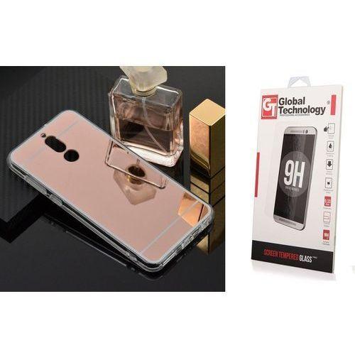 Zestaw | slim mirror case różowy | etui + szkło ochronne perfect glass dla modelu huawei mate 10 lite marki Slim mirror / perfect glass