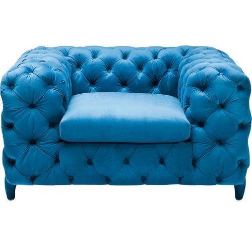 Desire Fotel Tkanina Aksamit Niebieski 128x105x72cm - 78641, marki Kare Design do zakupu w sfmeble.pl