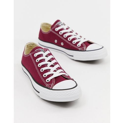 chuck taylor all star ox burgundy trainers - red, Converse