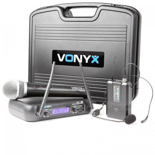 wm73c bezprzewodowy 2-kanałowy system radiowy ukf marki Vonyx