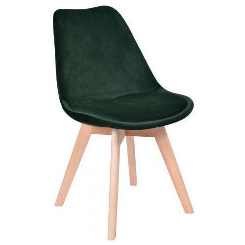 Krzeslaihokery Krzesło hugo aksamit zielone