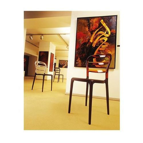 Krzesło miss bibi - czarny   pomarańczowy marki Resol