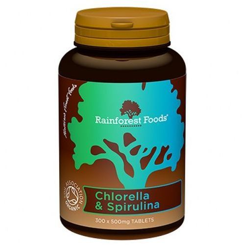 BIO Chlorella & BIO Spirulina (300 tabl.) Rainforest Foods (5060213550681)
