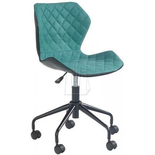 Fotel młodzieżowy halmar MATRIX czarno-turkusowy, kolor niebieski