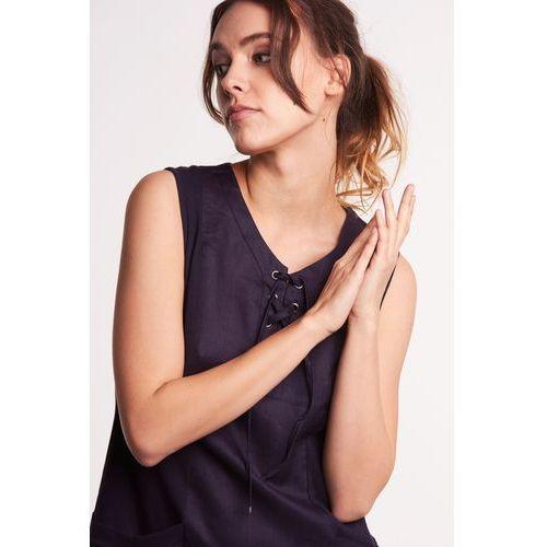 7174d1f673 Lara fabio Lniana sukienka bez rękawów 239