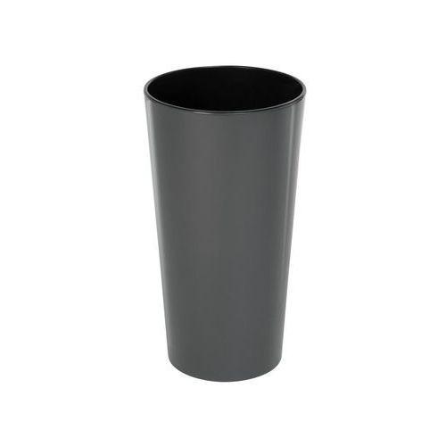 Chomik Doniczka plastikowa 25 cm antracytowa lilia (5900119825363)