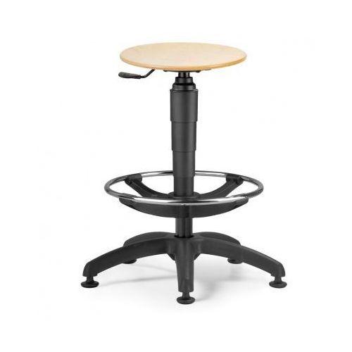 Taboret z drewnianym siedzeniem, plastikowy krzyż marki B2b partner
