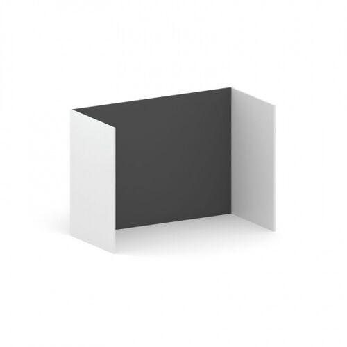 B2b partner Samodzielna ścianka działowa future, 1200 x 1739 x 820, grafit/biały