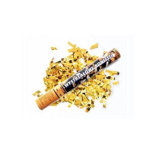 Tuba strzelająca - konfetti i serpentyny metaliczne złote - 40 cm - 1 szt. (5901157450746)