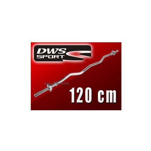 GRYF GWINTOWANY DWS SPORT 120 cm - LEKKO ŁAMANY - produkt dostępny w SKLEP SPORTOWY DWS-SPORT.PL