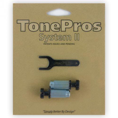 TonePros VBS1-B - G-Style Locking Studs, części mostka do gitary, czarne