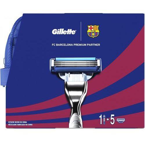 Gillette zestaw Mach3 FC Barcelona - maszynka + 5 ostrzy + żel do golenia