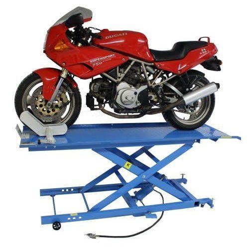 Mammuth Podnośnik motocyklowy krzyżakowy hydrauliczno - pneumatyczny 450 kg - ml45ka