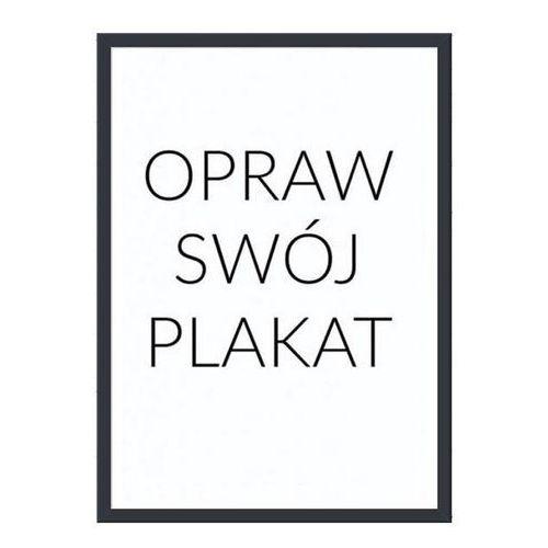 Rama na plakat czarna drewniana 30 x 40 cm z passepartout marki Follygraph