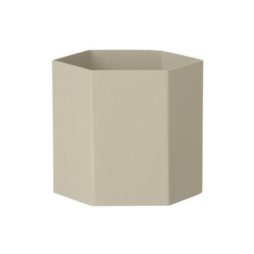 Ferm living Doniczka hexagon l jasnoszara (5704723005476)