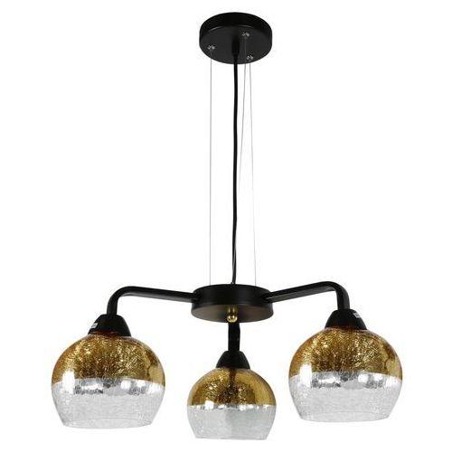 Candellux Lampa wisząca cromina gold 3x60w e27 czarna 33-57259 (5906714857259)