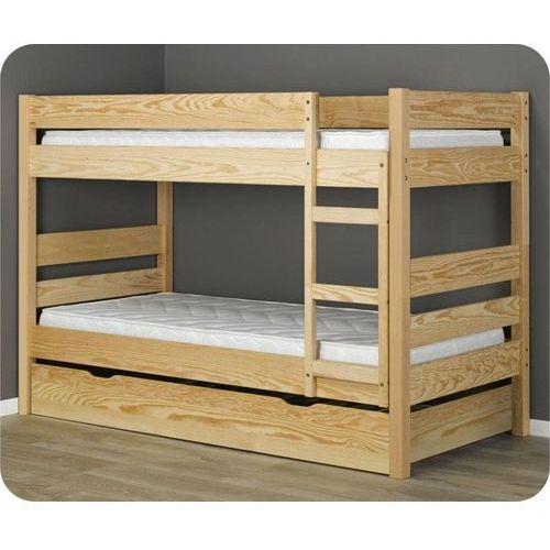 ŁÓŻKO PIĘTROWE DLA DZIECI Z MATERACAMI + SZUFLADA z kategorii łóżeczka i kołyski