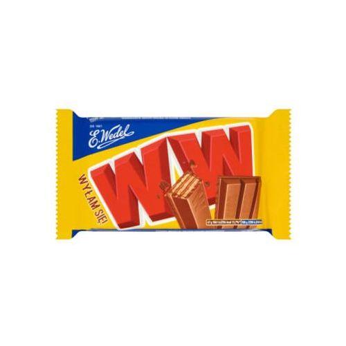 47g ww cztery wafelki przekładane nadzieniem orzechowym w mlecznej czekoladzie marki E. wedel