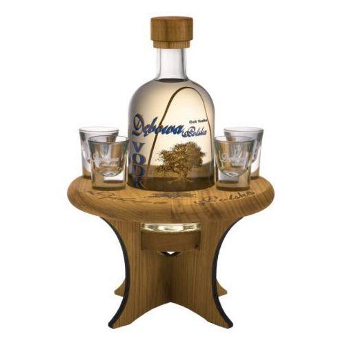 Wódka Dębowa 0,7l + stolik + 4 kieliszki