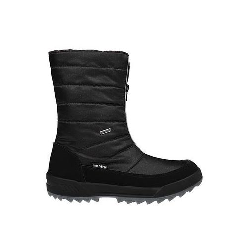Śniegowce 991177-1 czarne polar-tex damskie - czarny   brokat, Manitu