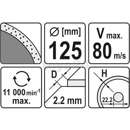 YATO TARCZA DIAMENTOWA PEŁNA 125 x 22,2mm 6013 - oferta [e5904e7cb7f507c5]