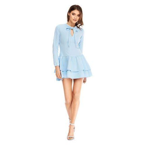 Sukienka Betty w kolorze błękitnym, kolor niebieski