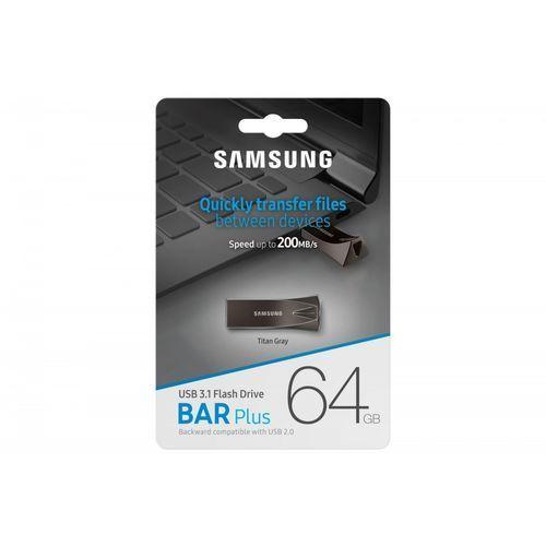 Samsung bar plus usb3.1 64 gb titan gray (8801643264079)