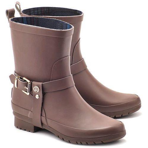 Oana 1R - Brązowe Gumowe Kalosze Damskie - FW56817659 269 (kalosz damski) od MIVO Shoes Shop On-line