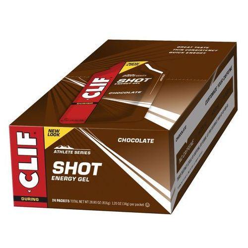 CLIF Bar Shot Gel Żywność dla sportowców Chocolate 24 x 34g 2019 Batony i żele energetyczne (0722252276292)