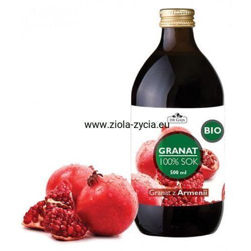 Dr gaja 100% sok z granatu bio (500 ml) - - pochodzi z ekologicznych upraw