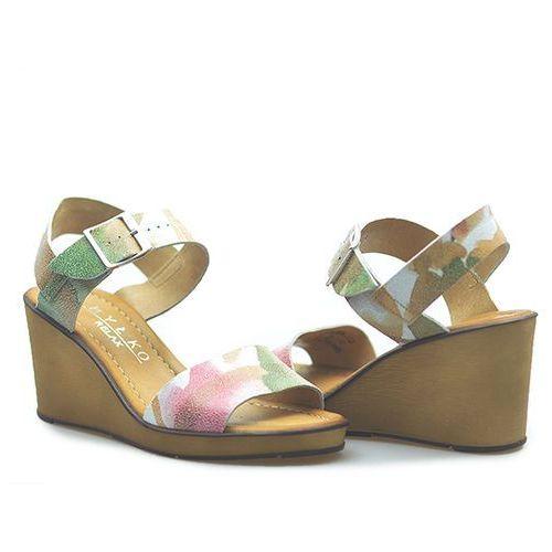 Sandały 6hh22x_mt2f kwiatowe lico marki Ryłko