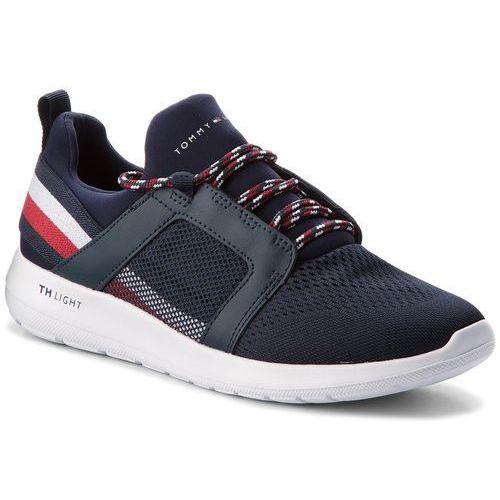 Sneakersy TOMMY HILFIGER - Technical Material Mix Sneaker FM0FM01345 Midnight 403, kolor niebieski