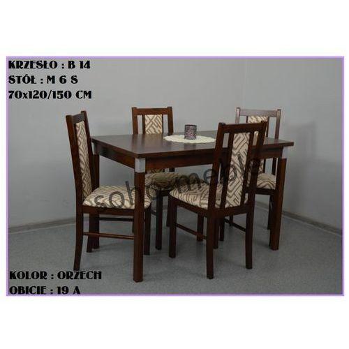 ZESTAW ZEFIR 4 KRZESŁA B 14 + STÓŁ M 6 S 70x120/150 CM - produkt z kategorii- zestawy mebli do salonu