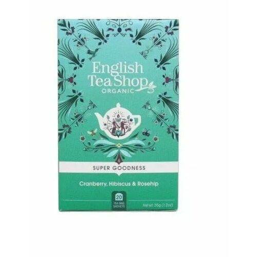 Herbatka ziołowa z hibiskusa z owocem dzikiej róży (20x1,75) BIO 35 g English Tea Sho