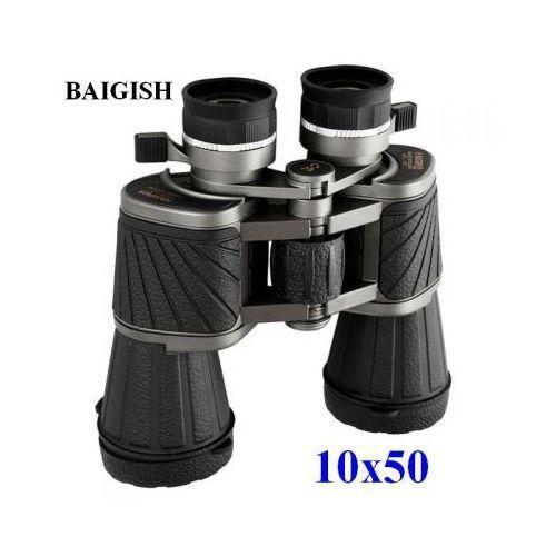 Oryginalna Lornetka Myśliwsko-Turystyczna Rosyjska BAIGISH 10x50 WA/HD + Moc. Statywowe i Akcesoria., 5900308623456