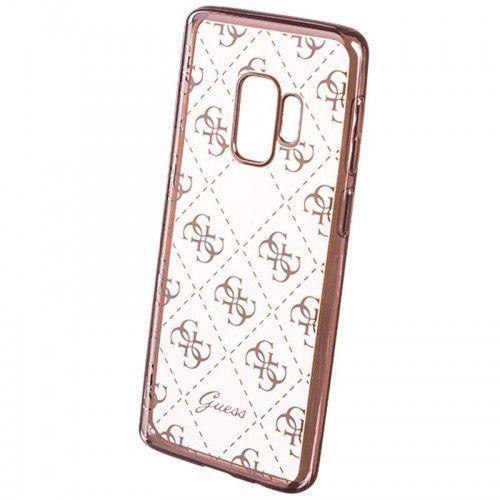 Guess 4G Transparent - Etui Samsung Galaxy S9+ (różowe złoto) (3700740426975)