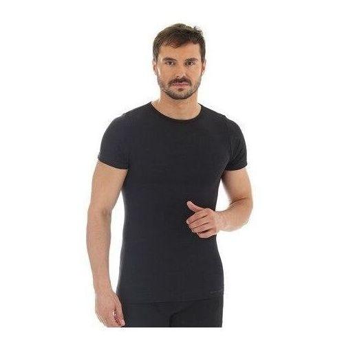 ss11030 koszulka męska z krótkim rękawem comfort wool grafitowy marki Brubeck