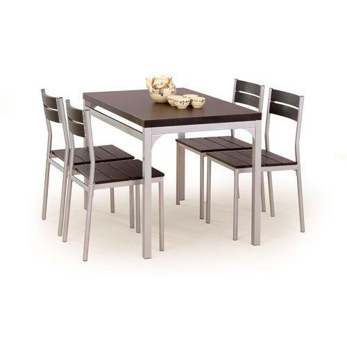 Zestaw HALMAR MALCOLM stół + 4 krzesła, marki Halmar do zakupu w ErgoExpert.pl