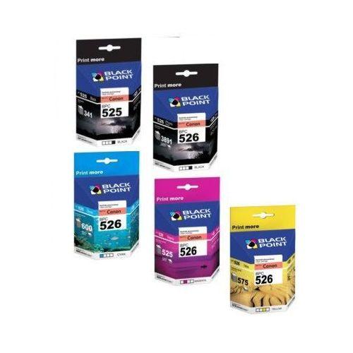 PGI-525 + CLI-526C/M/Y/K (PGI525+ CLI526) MULTIPAK (+CHIP!) BLACK POINT tusze do Canon PIXMA IP4820, IP4840, IP4850, IP4870, iX6550, MG5120, MG5140. MG5150, MG5170, MG5220, MG5240, MG5250, MG5270, MG5350 - zamienniki Canon PGI525BK, CLI526C, CLI526M, CLI5 - produkt z kategorii- tusze