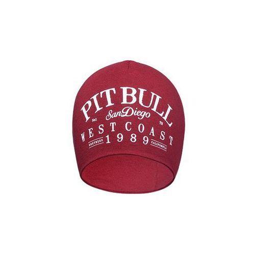 Czapka Pit Bull Beanie OLSCHOOL Burgundowa - Burgundowy, kolor fioletowy