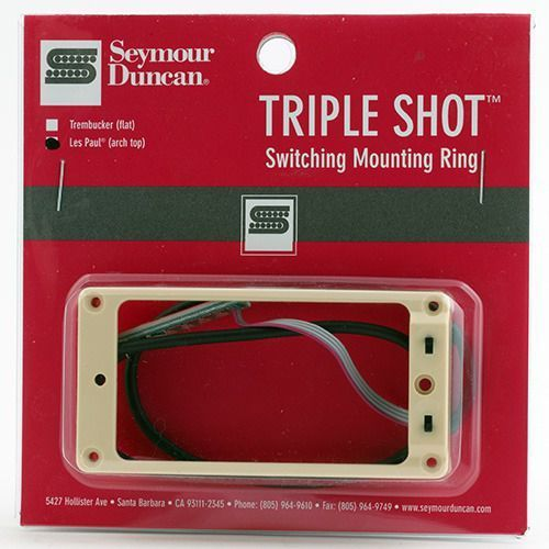 Seymour duncan sts 2n cre triple shot, neck switching mounting ring, arched - creme