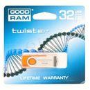 Produkt z kategorii- pendrive - GOODDRIVE FLASHDRIVE 32GB USB 2.0 TWISTER Orange