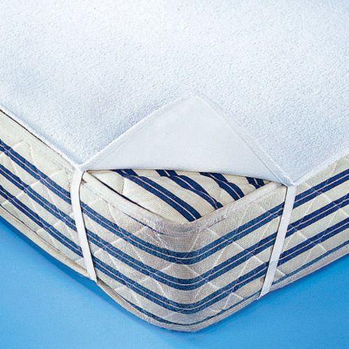 Dwustronny ochraniacz na materac z moltonu i tkaniny frotte, nieprzemakalny i oddychający