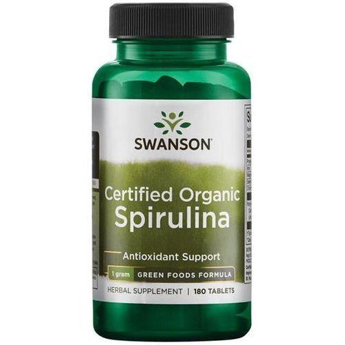 Swanson Certyfikowana Organiczna Spirulina 500 mg 180 tabletek